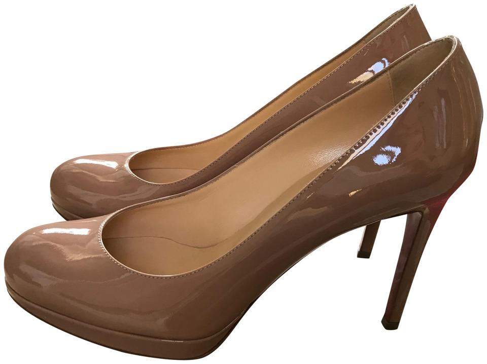 1441cf286a8 Christian Louboutin Nude Beige Patent 100mm Box New Simple New With Pumps  Size US 6.5 Regular (M, B) 22% off retail