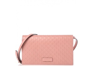Gucci Woc Wallet On A Chain Leather Nude Cross Body Bag