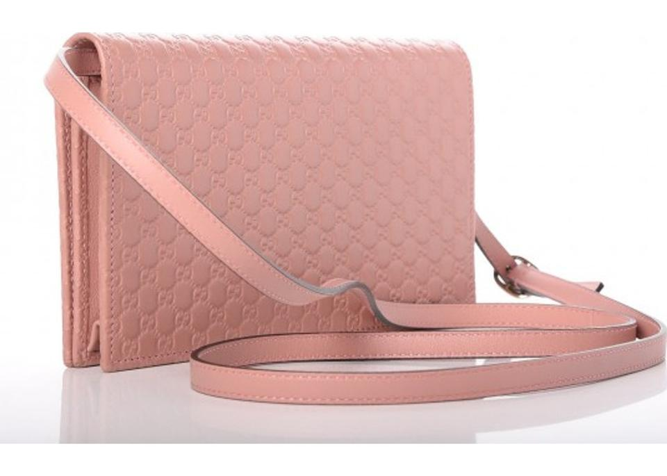 4fa48c516a1f Gucci Woc Wallet On A Chain Leather Nude Cross Body Bag Image 10.  1234567891011