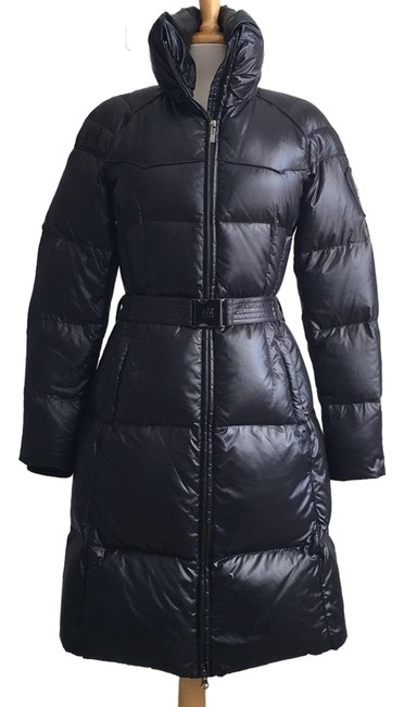 Item - Midnight Blue Long Belted Puffer Coat Size 6 (S)