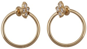Cartier Cartier 18K Yellow Gold Diamond Hoop Earrings