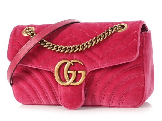 Gucci Gc.p1009.17 Quilted Brass Gg Shoulder Bag Image 1