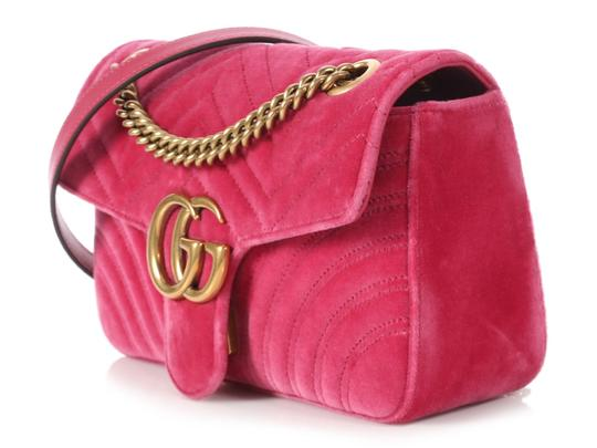 Gucci Gc.p1009.17 Quilted Brass Gg Shoulder Bag Image 2