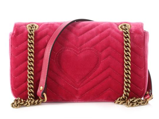 Gucci Gc.p1009.17 Quilted Brass Gg Shoulder Bag Image 3