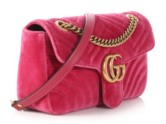 Gucci Gc.p1009.17 Quilted Brass Gg Shoulder Bag Image 4