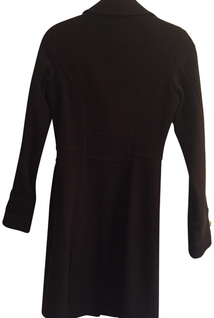 Item - Black Long Wool Blend Fitted Coat Size 0 (XS)