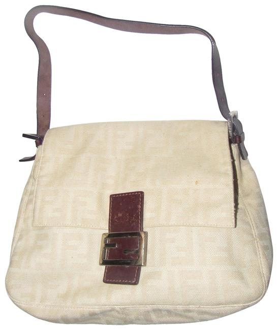 Item - 'mamma Zucco' Style Shoulder Purse Zucca Print In Shades Of Tan Canvas and Leather Satchel