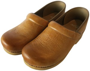 Dansko Professional Leather Rare Color Natural Tan Mules
