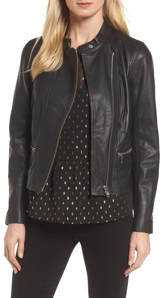 release date: high quality guarantee comfortable feel Halogen Black L (Nordstrom) Zip Front Moto Biker Annive Jacket Size 14 (L)  31% off retail