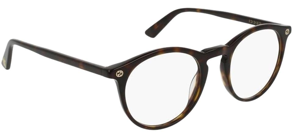8250ea031552 Gucci Sensual Romantic Havana Frame & Demo Customisable Lens Gg0121o 002  Round Style Unisex