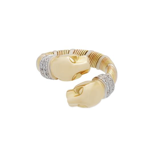 Preload https://img-static.tradesy.com/item/24395592/cartier-gold-18kyellow-white-and-rose-double-panther-crossover-diamond-ring-0-0-540-540.jpg
