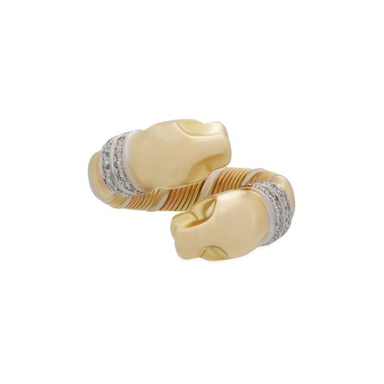 Cartier Cartier 18KYellow,White and Rose Gold Double Panther Crossover Diamond Image 1