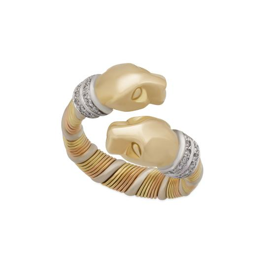 Cartier Cartier 18KYellow,White and Rose Gold Double Panther Crossover Diamond Image 4