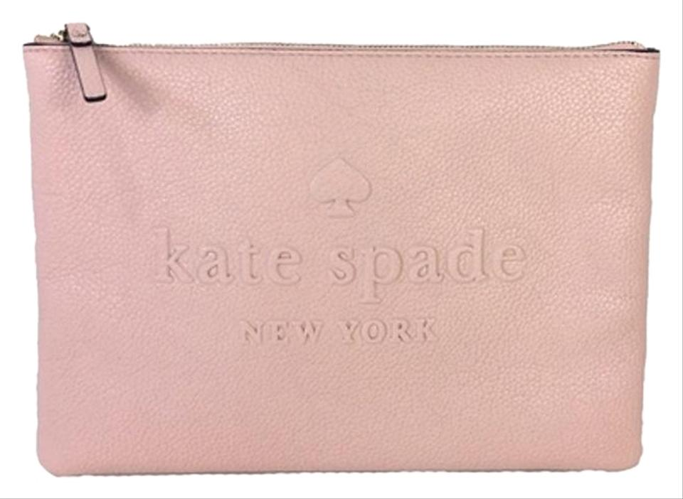 93cca9a38 Kate Spade Leather Wristlet Large Wristlet Warm Vellum Pink Clutch Image 0  ...