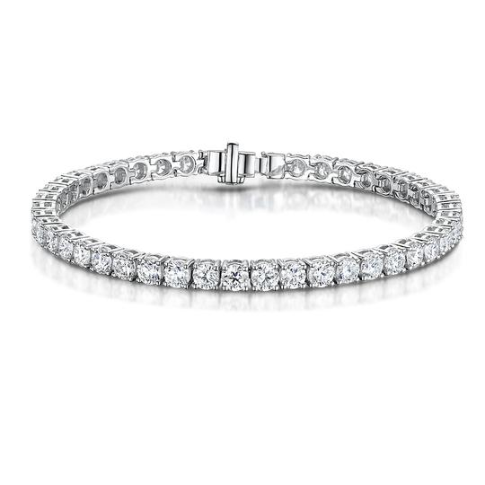 Gavriel's Jewelry Amazing 9.75cts Classic Diamond Tennis Bracelet 14K White Gold Image 1