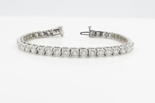 Gavriel's Jewelry Amazing 9.75cts Classic Diamond Tennis Bracelet 14K White Gold Image 2