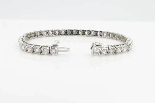 Gavriel's Jewelry Amazing 9.75cts Classic Diamond Tennis Bracelet 14K White Gold Image 6