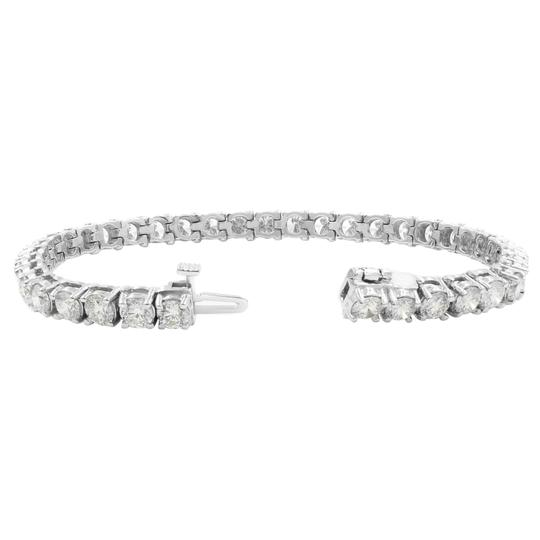 Gavriel's Jewelry Amazing 9.75cts Classic Diamond Tennis Bracelet 14K White Gold Image 7