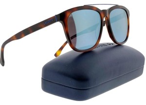 Lacoste L822S-214-55 Square Men's Tortoise Frame Blue Lens Genuine Sunglasses