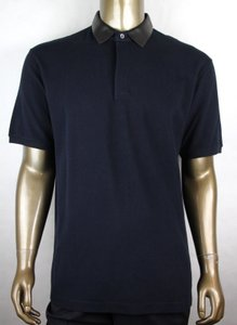 Gucci Ink Blue W Cotton Polo W/Detachable Leather Collar 3xl 359523 4185 Shirt