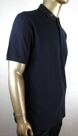 Gucci Ink Blue W Cotton Polo W/Detachable Leather Collar 3xl 359523 4185 Shirt Image 1