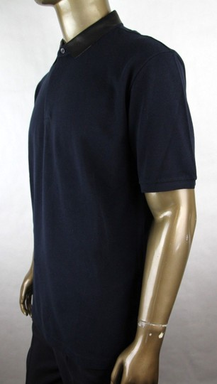 Gucci Ink Blue W Cotton Polo W/Detachable Leather Collar 3xl 359523 4185 Shirt Image 2