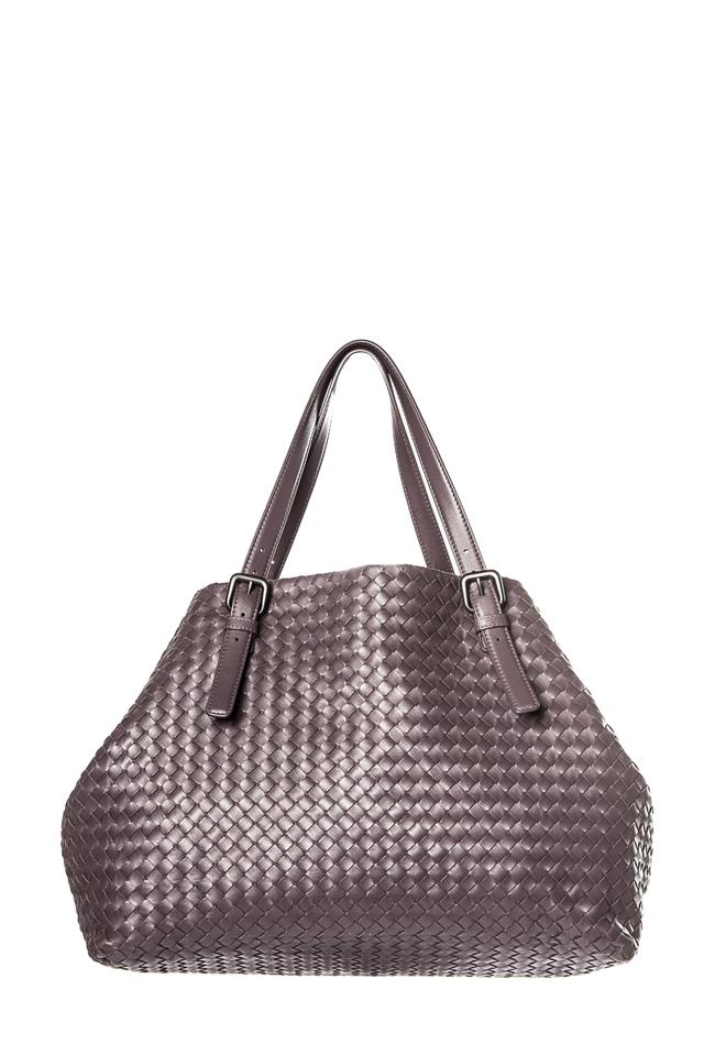 b0cd52c8fc03 Bottega Veneta Plum Intrecciato Cesta Purple Leather Tote - Tradesy