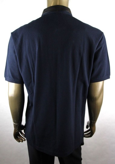 Gucci Ink Blue W Cotton Polo W/Detachable Leather Collar 2xl 359523 4185 Shirt Image 3