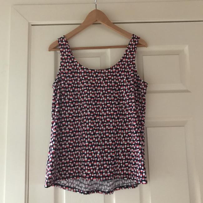 Boden Top dark blue ,pink and white pattern Image 1