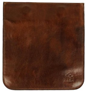 Time Resistance Leather Organizer Leather Accessory Small Leather Case Leather Dark Brown Clutch