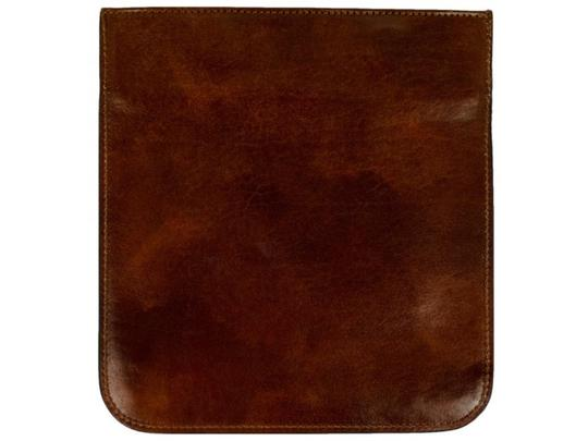Time Resistance Leather Organizer Leather Accessory Small Leather Case Leather Dark Brown Clutch Image 1
