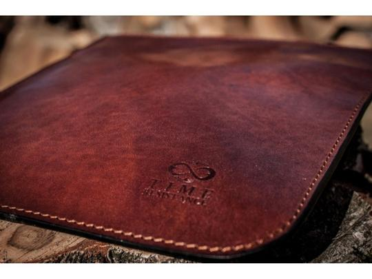 Time Resistance Leather Organizer Leather Accessory Small Leather Case Leather Dark Brown Clutch Image 4