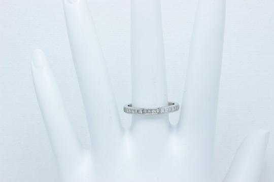 Tiffany & Co. F Vs Co Princess Cut Diamond Ring Platinum 2.6mm Women's Wedding Band Image 4