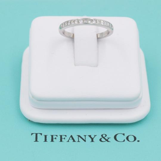 Tiffany & Co. F Vs Co Princess Cut Diamond Ring Platinum 2.6mm Women's Wedding Band Image 6