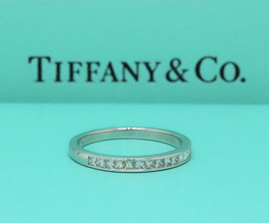 Tiffany & Co. F Vs Co Princess Cut Diamond Ring Platinum 2.6mm Women's Wedding Band Image 7