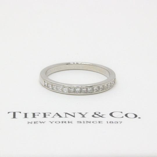 Tiffany & Co. F Vs Co Princess Cut Diamond Ring Platinum 2.6mm Women's Wedding Band Image 8