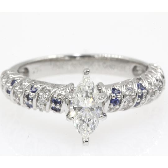 Preload https://img-static.tradesy.com/item/24395912/14k-white-gold-68-ct-marquise-shape-rope-design-with-sapphire-engagement-ring-0-0-540-540.jpg