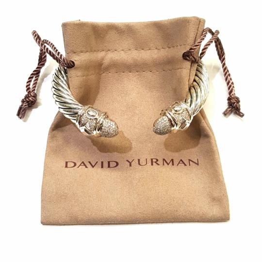 David Yurman GORGEOUS!! David Yurman Renaissance Bracelet with Pavé Diamonds 10mm 0.88 carats pavé diamonds 61.7 grams Hinge clasp 100% Authentic Guaranteed!! Comes with Original David Yurman pouch!! Image 1