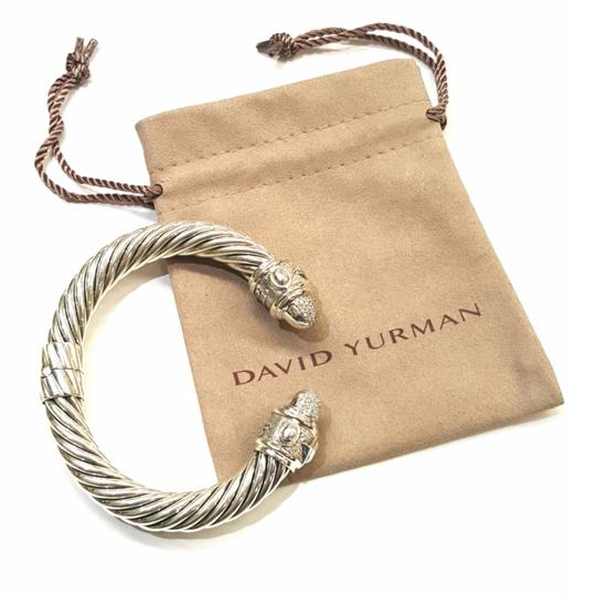 David Yurman GORGEOUS!! David Yurman Renaissance Bracelet with Pavé Diamonds 10mm 0.88 carats pavé diamonds 61.7 grams Hinge clasp 100% Authentic Guaranteed!! Comes with Original David Yurman pouch!! Image 6