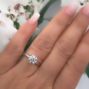 I Si1 Round 1.02 Cts 14k White Gold Engagement Ring