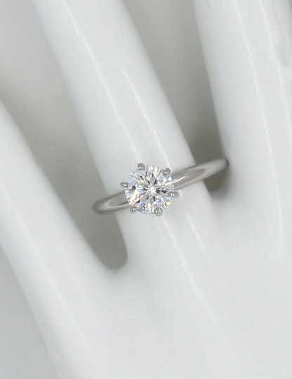 I Si1 Round 1.02 Cts 14k White Gold Engagement Ring Image 4