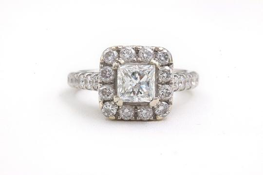 H Si2 Diamond Princess Halo 2.00 Tcw In 14k White Gold Engagement Ring Image 1