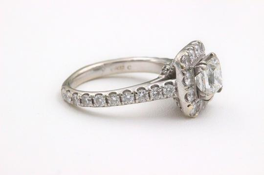 H Si2 Diamond Princess Halo 2.00 Tcw In 14k White Gold Engagement Ring Image 2