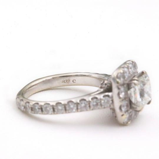 H Si2 Diamond Princess Halo 2.00 Tcw In 14k White Gold Engagement Ring Image 3