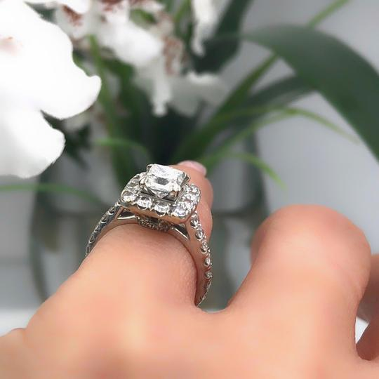 H Si2 Diamond Princess Halo 2.00 Tcw In 14k White Gold Engagement Ring Image 5
