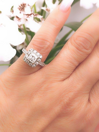 H Si2 Diamond Princess Halo 2.00 Tcw In 14k White Gold Engagement Ring Image 7