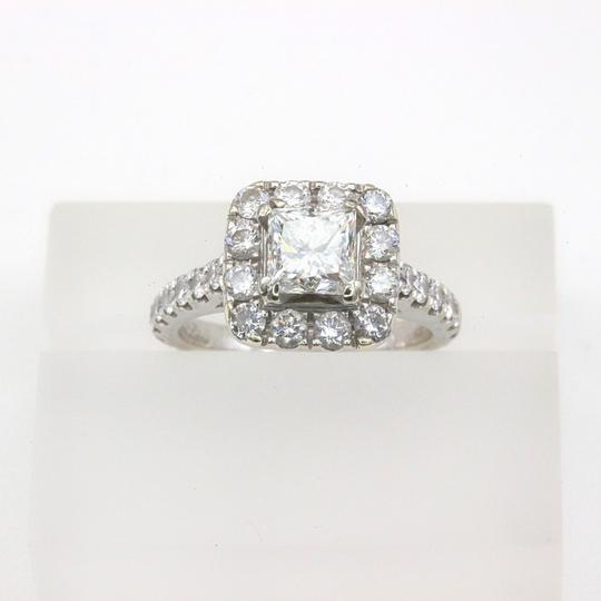 H Si2 Diamond Princess Halo 2.00 Tcw In 14k White Gold Engagement Ring Image 9