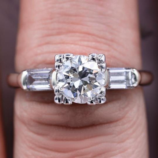 Preload https://img-static.tradesy.com/item/24395966/certified-platinum-antique-121tcw-round-cut-diamond-ring-0-0-540-540.jpg
