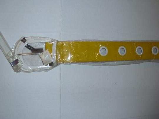 unbranded New huge bright yellow thick wide chunky belt hip waist Image 1