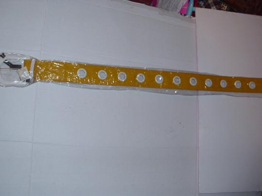 unbranded New huge bright yellow thick wide chunky belt hip waist Image 2